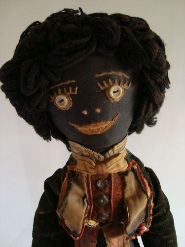 """RARE Antique vintage Golliwog golly doll / Teddy Bear, 20"""" c.1910s"""