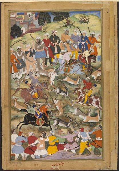 Akbar | Mukund | This illustration to the Akbarnama (Book of Akbar) depicts the Mughal emperor Akbar
