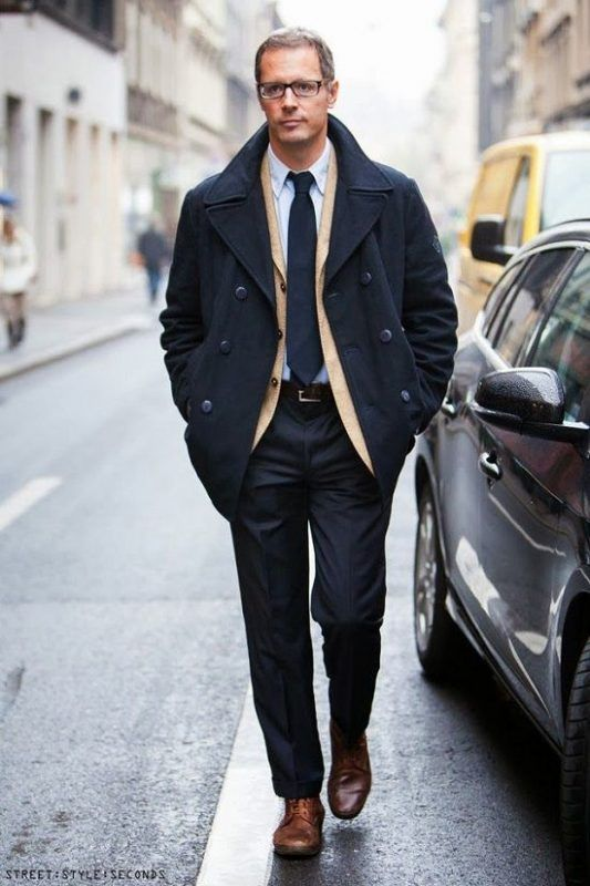 3 Easy Ways To Wear A Peacoat Mens Fashion Pinterest Mens