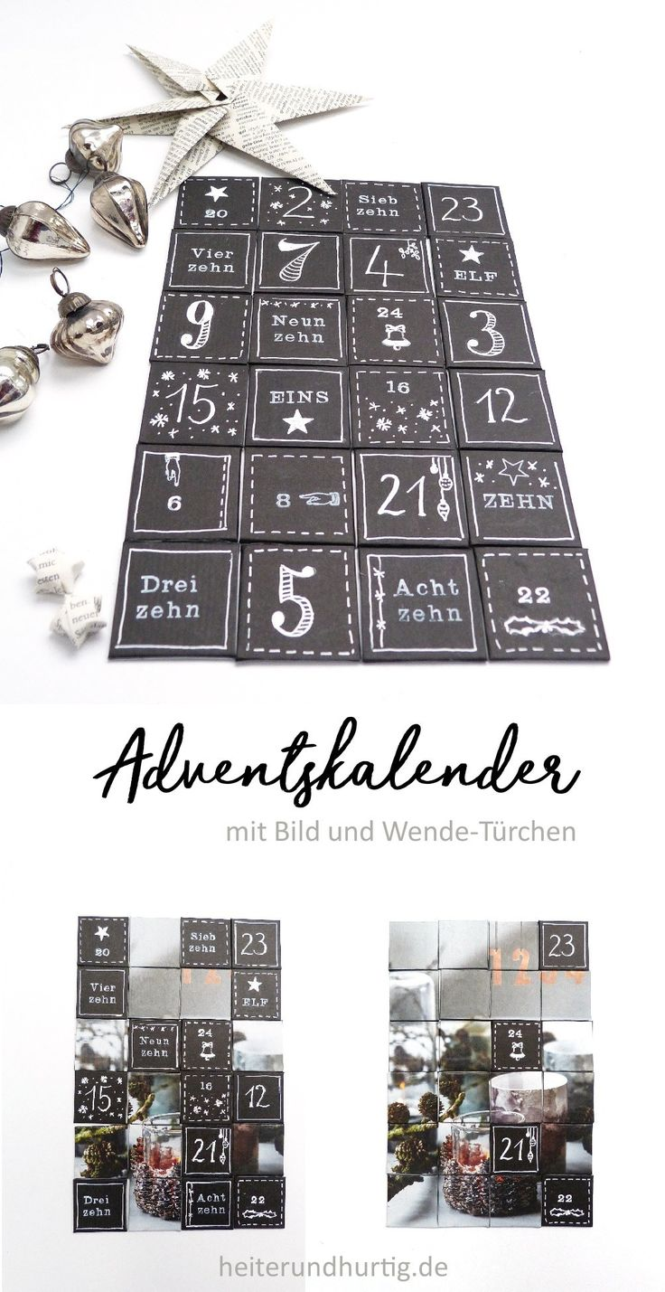 25 einzigartige adventskalender mit foto ideen auf. Black Bedroom Furniture Sets. Home Design Ideas