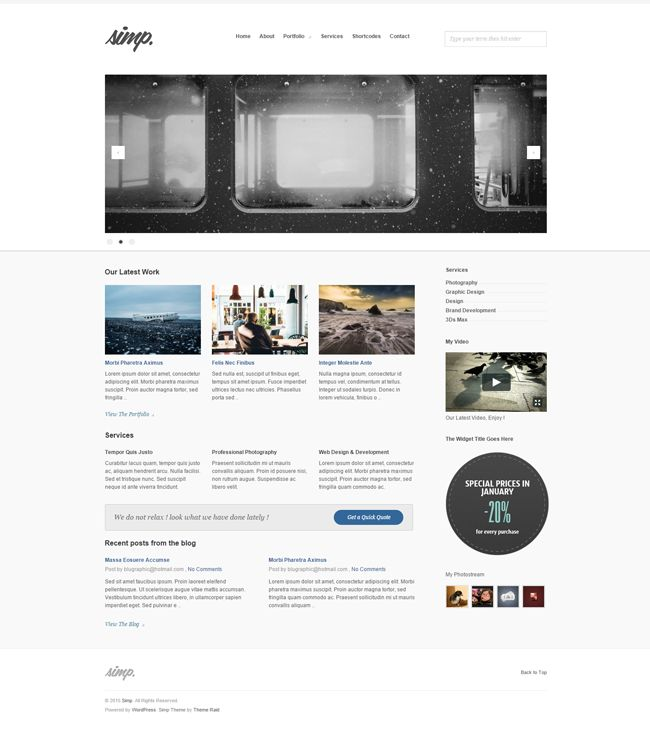 Website: Simp Agency Wordpress Theme (HTML5, CSS3, JS)