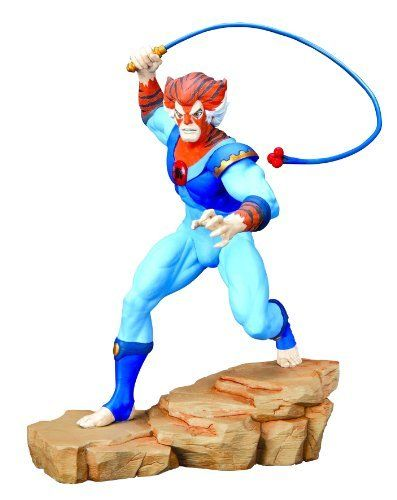 """Thundercats: Tygra Statue by Hard Hero. $184.00. Fifth in a classic series. Sculpted by Paul Bennett. 10.5"""" tall. Strictly limited. 1:7 scale. From the Manufacturer                Thundercats, ho. The classic 80's animated series Thundercats lives again in a series of high-quality statues from Hard Hero. Following the Lion-O, Cheetara, and Mumm-Ra statues, sculptor Paul Bennett turns his attentions to the Lion-O's second-in-command. Fifth in a classic series. 1:7 scale. Sculpted ..."""