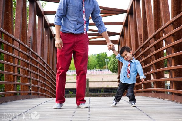 Like Father Like Son: Styling Tips from an Adorable Toddler and his Dad. {Precious photos too...}: Men Outfit