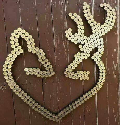 Deer heart backyard art for your fence using shotgun shells