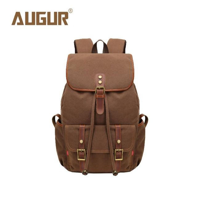 Check current price AUGUR Brand New Fashion Backpack Women Mens Designer Backpack Canvas Retro School Bags For Teenagers HT100604 just only $26.97 with free shipping worldwide  #backpacksformen Plese click on picture to see our special price for you