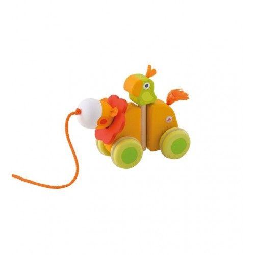 Un jouet à traîner Lion de la marque Sévi. Ce produit est en vente sur http://www.jeujouet.com/sevi-jouets-trainer-lion.html #JouetATrainer #Sévi #Jeujouet