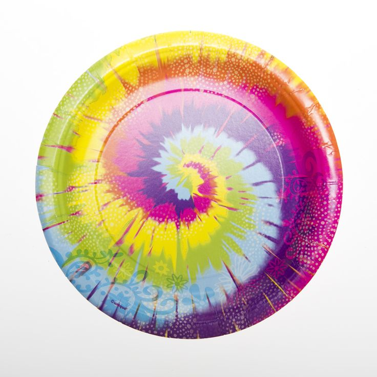 Shop for 7\  Tie-Dye Plates Birthday Tableware. Plus tons of  sc 1 st  Pinterest & 15 best Tie dye Party Theme images on Pinterest | Tie dye party Tie ...