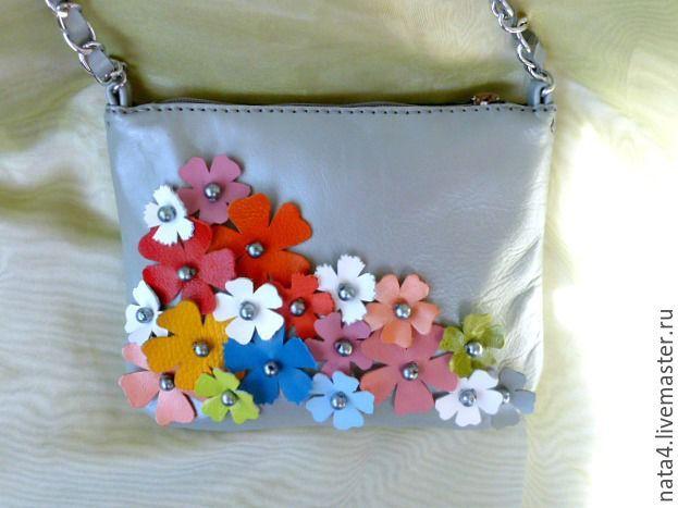 Купить Сумочка из натуральной кожи Яркое лето Кожаная сумочка, сумка кожаная - комбинированный