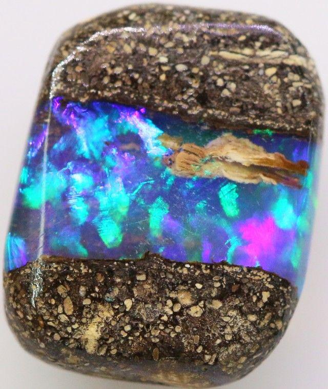 Boulder Opal Wood Fossils 13 x 10 x 4mm 4.55 carats Auction #603474 Opal…