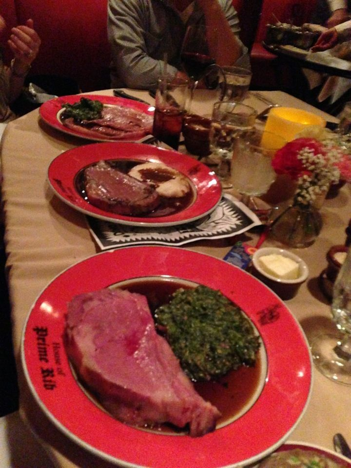 House of Prime Rib - An institution where they serve gigantic prime ribs table side and offer an entirely prix fixe menu featuring only, what else, prime rib.