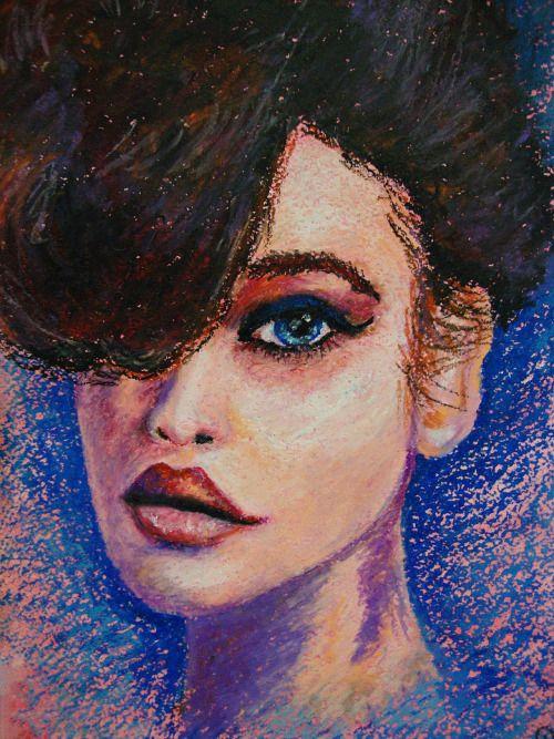 Портрет ¾ масляная пастель