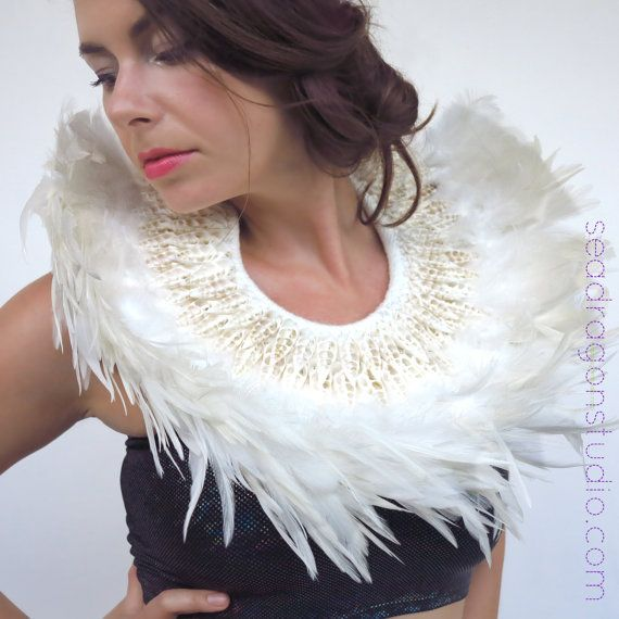 Shell & Feather Collars | Burning Man Costumes, Festival Costumes, Festival Jewelery, Burningman Accessories, Burlesque,…