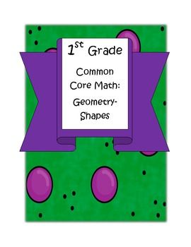 Common Core Geometry Shapes- great hands-on activities