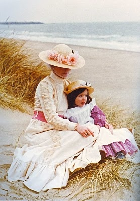 If I didn't know better, I'd say this Laura Ashley photograph from the 1980s is a near replica of a Victorian painting!
