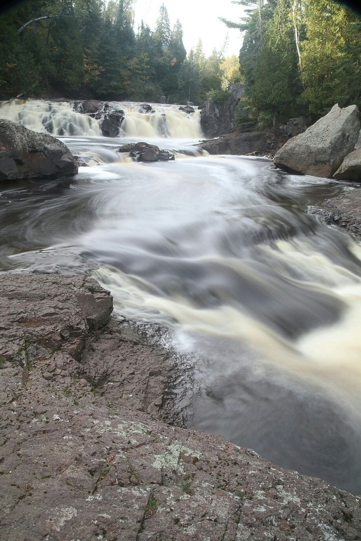 Two Step Falls, Tettegouche State Park, Minnesota (With