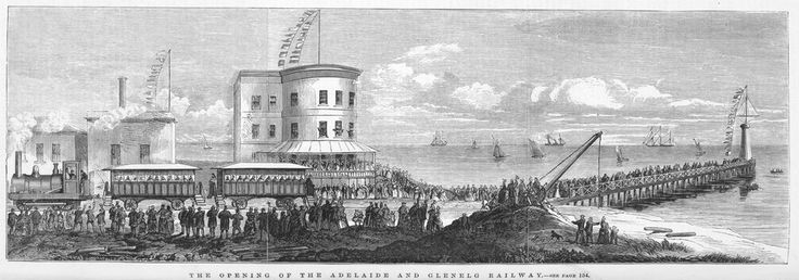 The Opening of the Adelaide and Glenelg Railway, South Australia, 1873