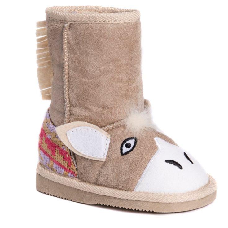 Muk Luks Kids' Palo Horse Boot Toddler/Preschool Shoes (Tan)
