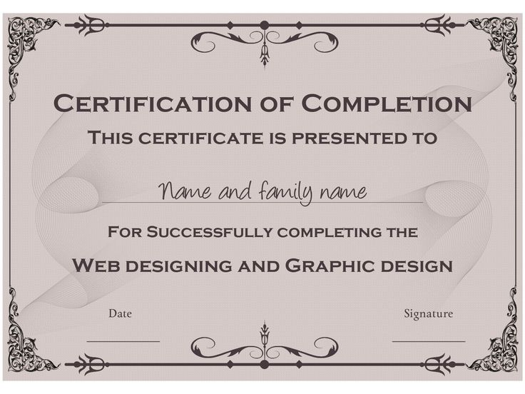 20 best Certificate Templates images on Pinterest - free certificate templates word