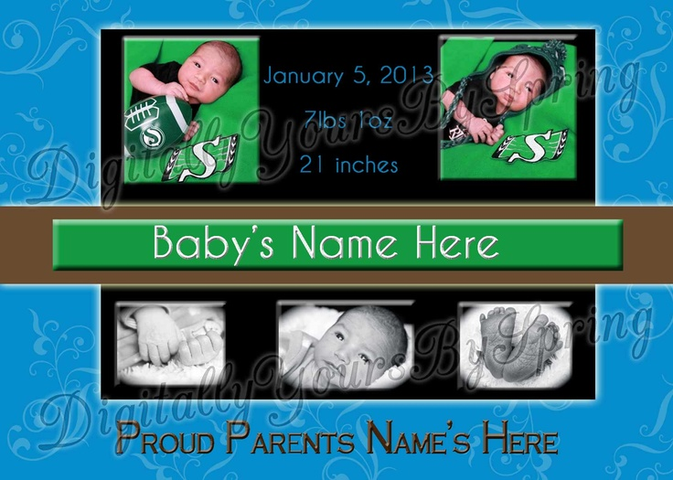 Customize this adorable baby birth announcement for your party needs!If you would like to customize using different fonts or colors or add your personal pictures I can customize to your needs. Please visit my online store for more information. https://www.etsy.com/shop/DigitallyUrsbySpring or like me on Facebook! http://www.facebook.com/DigitallyYoursBySpring