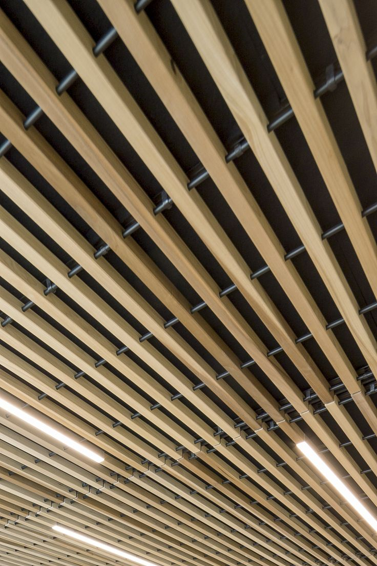 58 best architecture close ups images on pinterest ceilings hunter douglas and hunters - Wood slat ceiling system ...