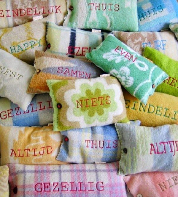 Zo-mooi.blogspot: Lovely cozy handmade pillows from Tsjilp