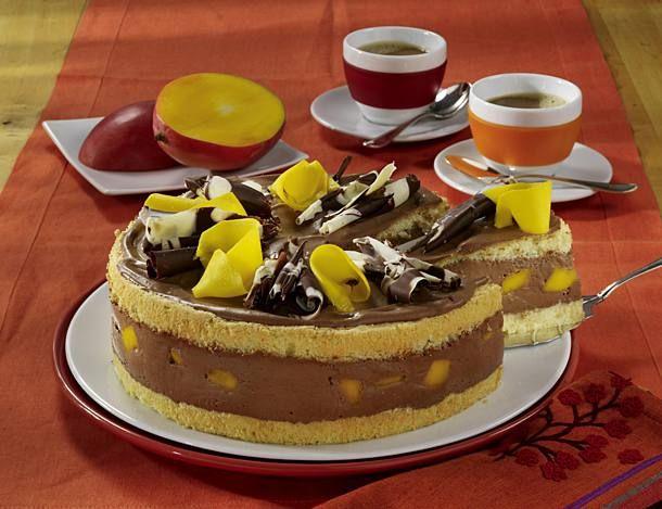 Mango Schoko Torte Rezept Lecker Rezept Lecker Kuchen Und Torten Torten Rezepte