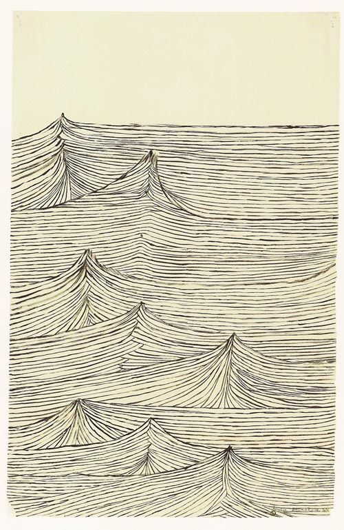Louise Bourgeois: Surf Art, Louis Bourgeois, Insomnia Drawing, Illustration, Ocean Waves, Louise Bourgeois, Joy Division, Line Drawing, The Waves
