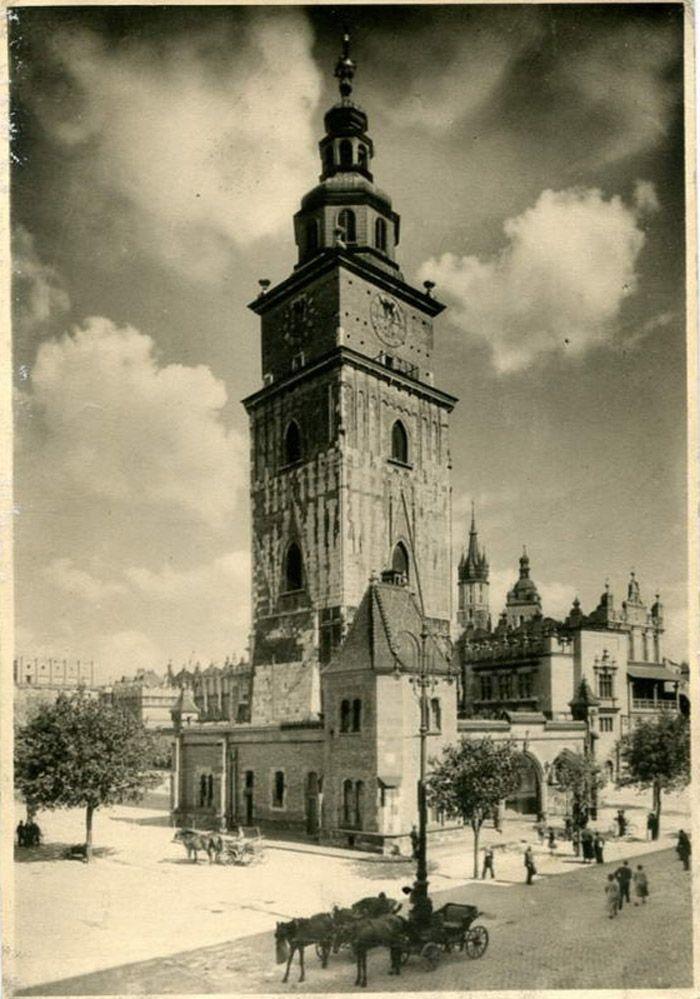Wieża ratuszowa, Kraków - 1938 rok