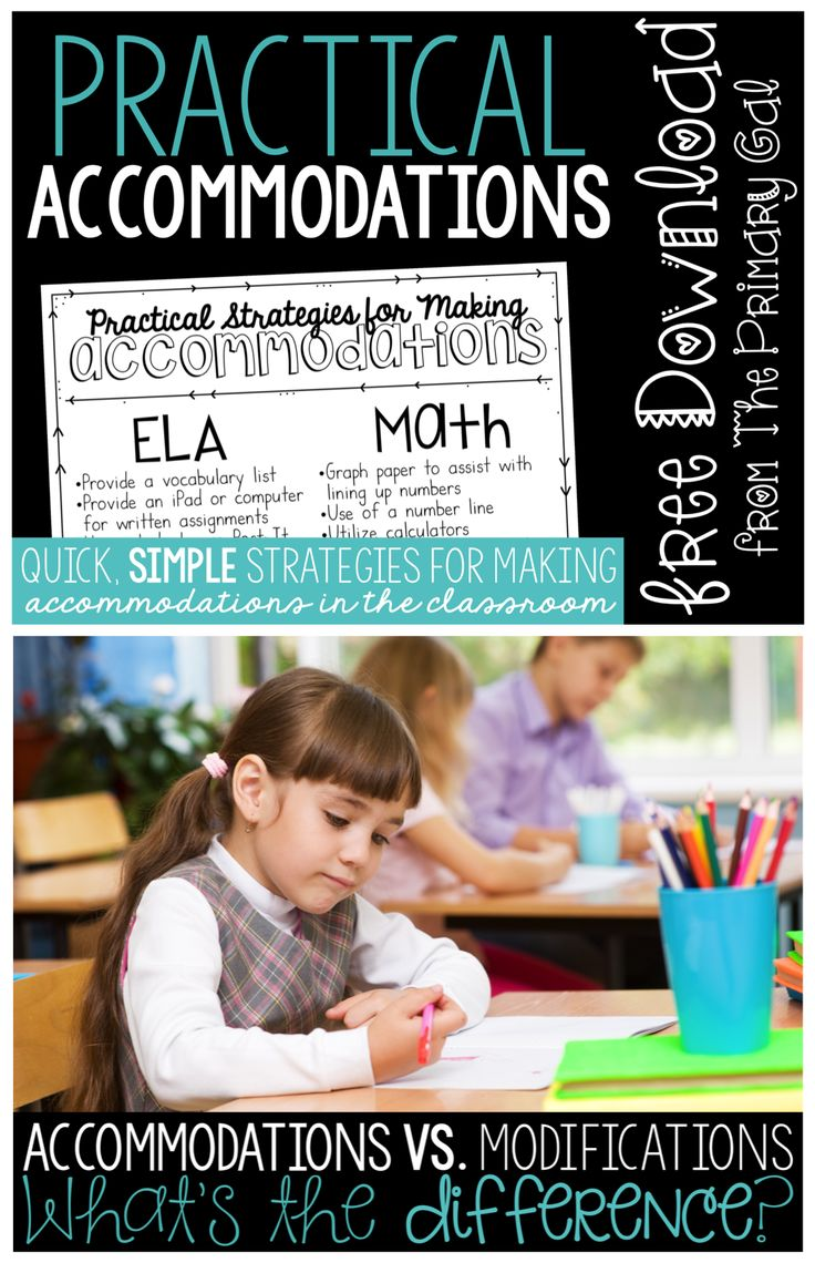 Accommodations and modifications are something that we have to know and understand. Check out these definitions, examples, and strategies for accommodating your students!