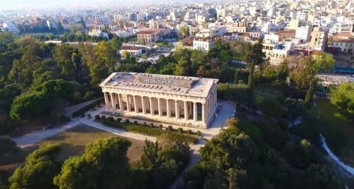 Εντυπωσιακή ξενάγηση στην πανέμορφη Αρχαία αγορά της Αθήνας με drone