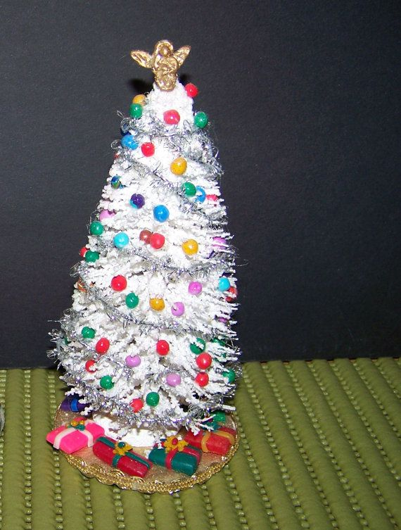6 inch christmas tree for dollhouse miniature by picalina on Etsy, $20.00