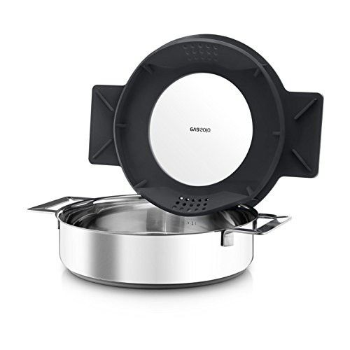Eva Solo Gravity Cookware - Stainless Steel Saute Pan with Grey Multifunctional Lid