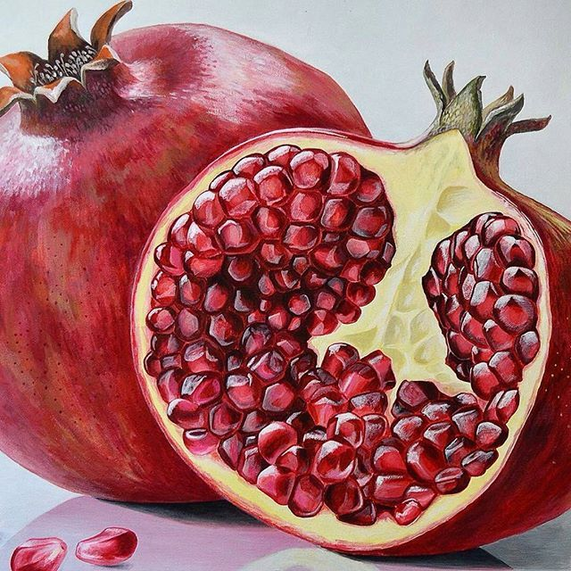 Yummy pomegranate Realistic oil painting by @natalya.kucherenko (shared by @marlon_art) Want a feature to our millions of followers across our blog and social media accounts? Here's how to do it: 1. List 3 or 4 works of your art for sale on www.artFido.com and include the tag #artFidoNAAS in the artwork description 2. Share your artFido listings with your contacts to help you sell your art. 3. Email us at blog@ artFido.com and show us you have done 1 and 2 above. It's that easy! by artf...