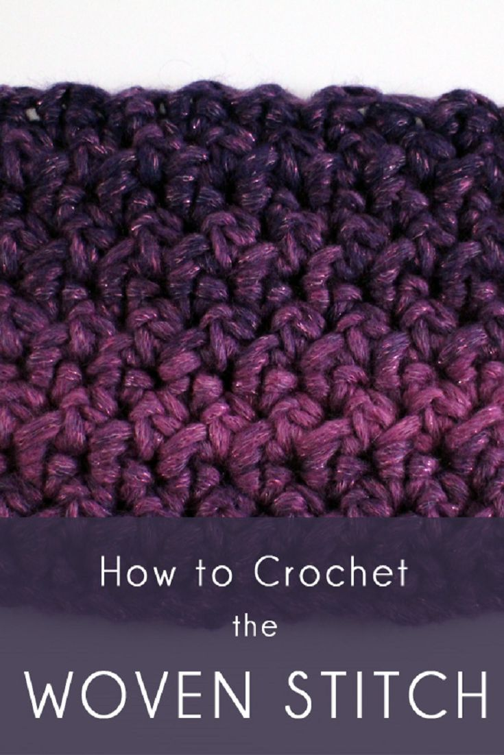 How To Crochet the Woven Stitch