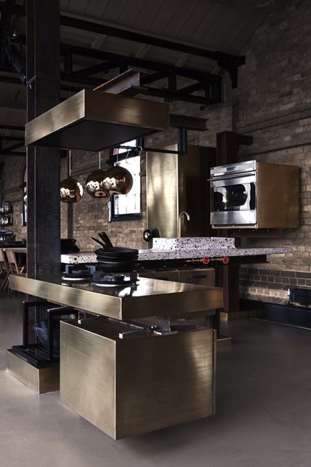 Superb Brass kitchen for Ekoij Designed by Tom Dixon in collaboration with Lindholdt Studio