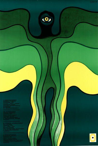 International Poster Biennial 1976 Miedzynarodowe Biennale Plakatu 1976 Lenica Jan Polish Poster