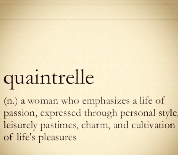 a new word...a new definition of self n that's me