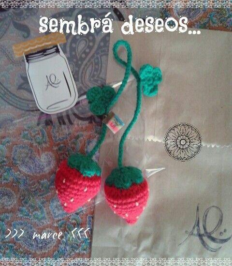 Frutillitas crochet ---Sembrá Deseos