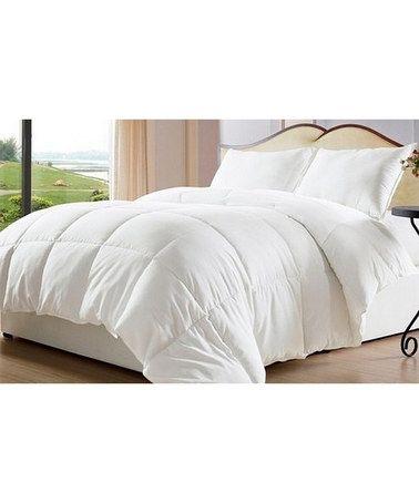 Look at this #zulilyfind! White Reversible Down-Alternative Comforter #zulilyfinds