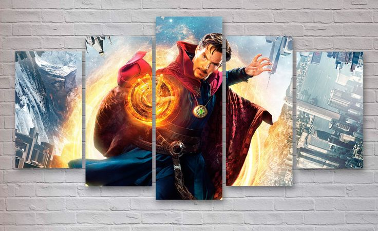 Doctor Strange Movie 5 Piece / Panel Canvas  - Wall Art - Office - Bedroom Wall Art - Multi Panel - #058 by CanvasboxShop on Etsy https://www.etsy.com/listing/490562083/doctor-strange-movie-5-piece-panel