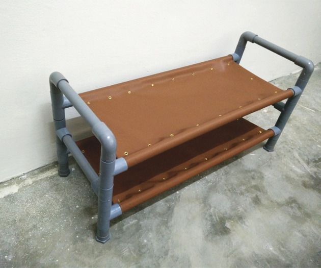 Hi guys! As the title goes this is a simple project using PVC pipe and accessories to make a small size 2-tier shoe rack. I use a faux leather fabric stretched in...
