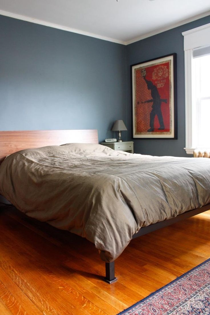 Slate blue wall paint - Benjamin Moore Charlotte Slate I Painted My Bedroom At My Old House This Color