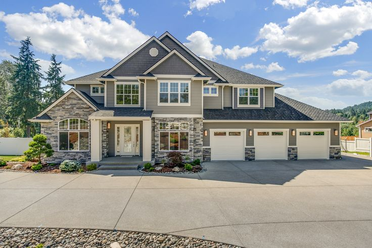 See how this client customized Traditional #houseplan 5893 by adding a 3-car garage and extra outdoor living spaces. View 45 photographs of this recent home build: https://www.facebook.com/TheHouseDesigners