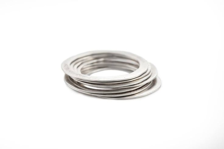Stakable rings forgées Justine B Gagnon