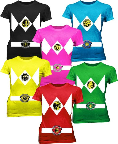 Power Rangers Costume Juniors Tees $19.95 #tvstoreonlinewishlist