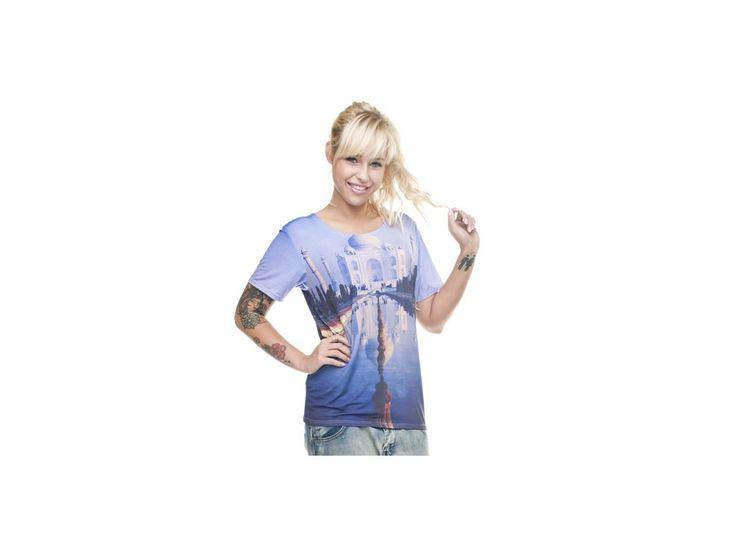 Dámské barevné tričko s potiskem