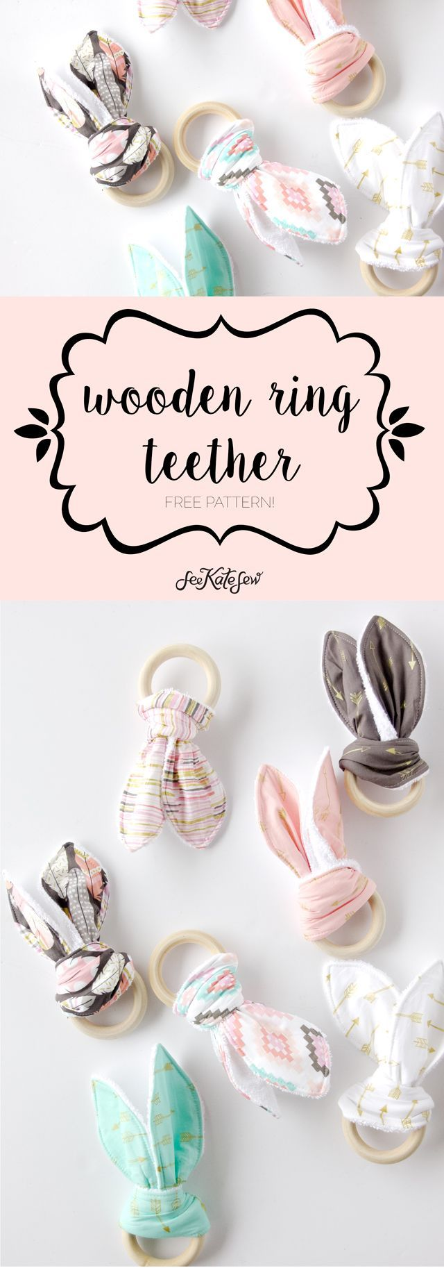 épinglé par ❃❀CM❁✿à partir de sewkatesew. Wooden Ring Teething Toy Tutorial | See Kate Sew
