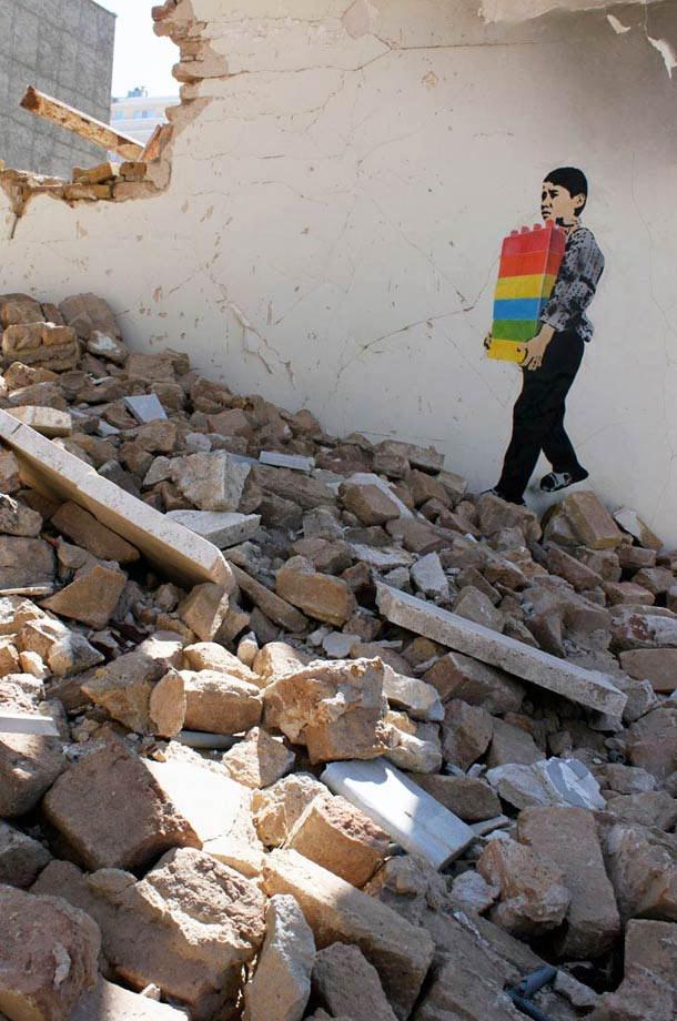 Street Art Iranien, le pochoir en étendard