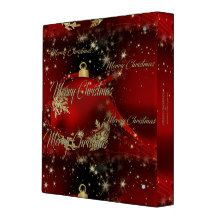 Merry Christmas and a Happy New Year 3 Ring Binder