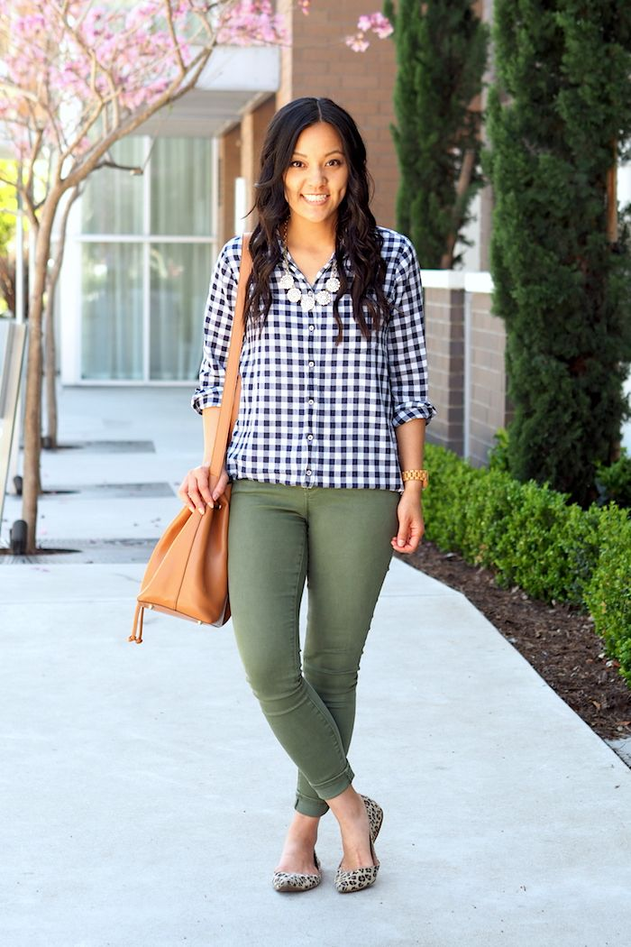 Navy Gingham for Spring + 50% off J.Crew Factory Roundup
